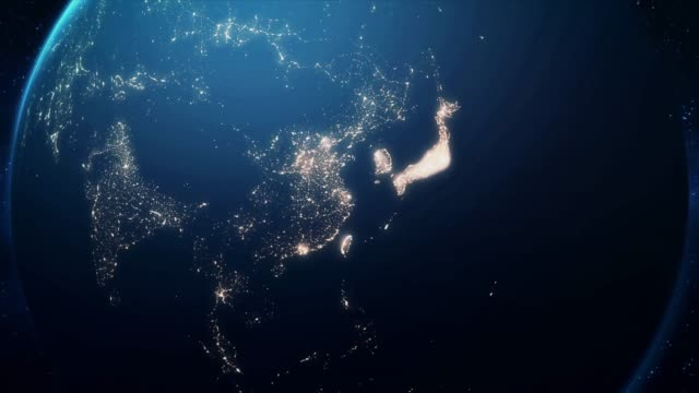 Zoom-From-Earth-and-Back-Travel-to-Shanghai-Night