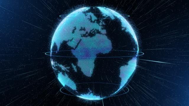 Welt-Kugel-Hologramm-virtuelle-Erde