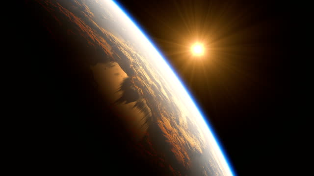 Realistic-Sunrise-Over-The-Earth-4k-3d-Animation-