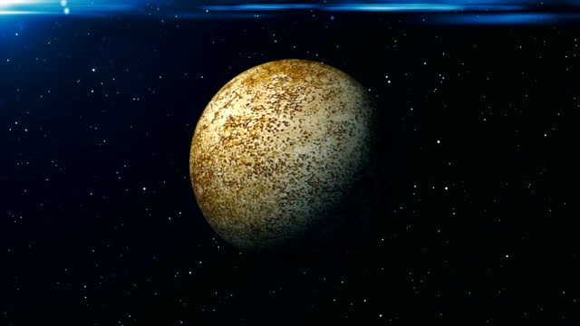 Animated-Mercury-planet-Abstract-space-background