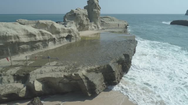 Aerial-footage-of-nature-beach-in-Indonesia