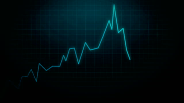 Insolvency-Stock-Market-Crash-of-Loosing-Investment-Animation-4k-Video-on-Blue-Background-