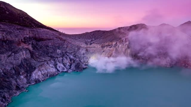 Time-lapse-Kawah-ijen-volcano-