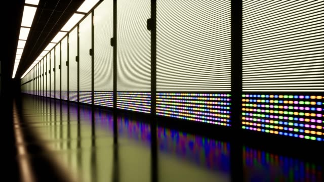 IT-Conceptual-Representation-of-Digitization-of-Information-Flow-Moving-Through-Rack-Servers
