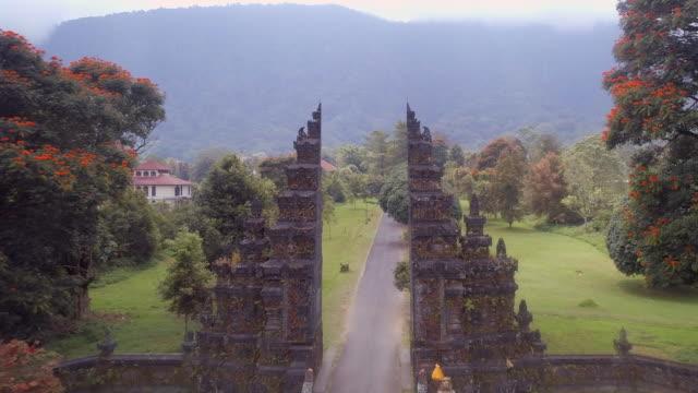 Balinese-Split-Gate-Candi-Bentar-in-Bali-on-an-Early-Morning