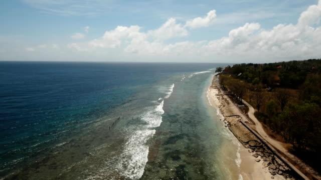 Aerial-view-beautiful-beach-on-a-tropical-island-Nusa-Penida-Bali-Indonesia