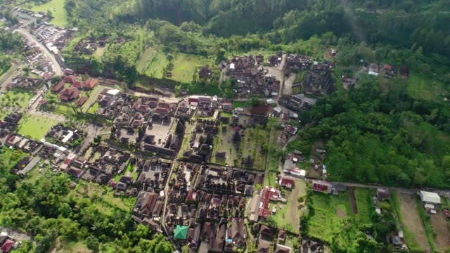 Aerial-view-by-drone-4k-camera-of-Besakih-Temple-largest-hindu-Temple-on-Bali-island-in-Indonesia