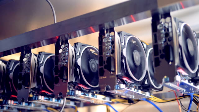 Racks-with-graphic-cards-in-modern-cryptocurrency-mining-Data-Center-