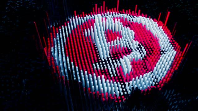 Símbolo-de-Bitcoin-está-montado-a-partir-de-bloques-de-datos-minadas-