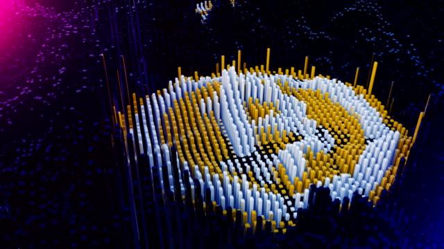 Bitcoin-Symbol-von-verminten-Datenblöcke-zusammengebaut-werden-