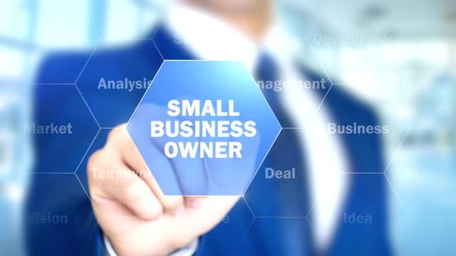 Kleinunternehmer-Mann-arbeitet-auf-holographische-Schnittstelle-Bildschirm