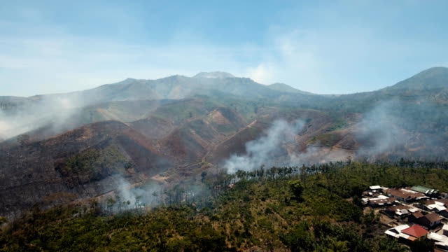 Aerial-view-Forest-fire-Jawa-island-Indonesia