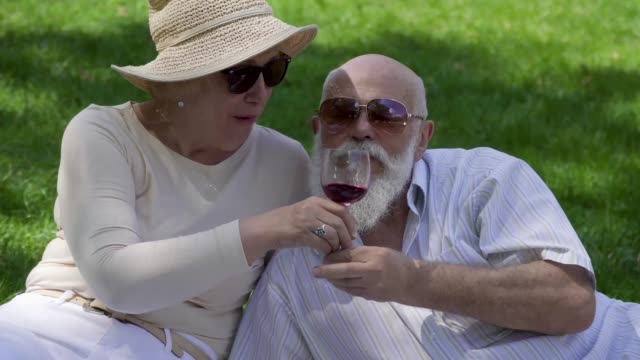 Lovely-senior-couple-at-the-picnic-in-park