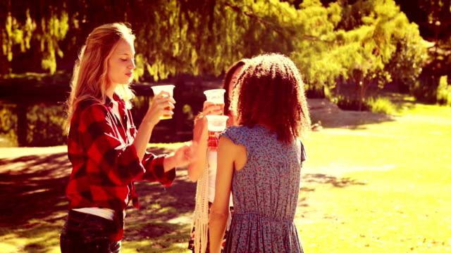 Happy-friends-in-the-park-having-beers