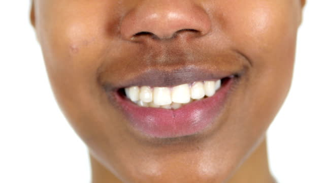 Smiling-Lips-Close-up-of-Black-Woman