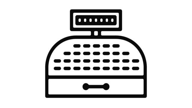 Cash-Register-Line-Motion-Graphic