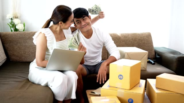 Happy-couple-success-in-their-owner-business