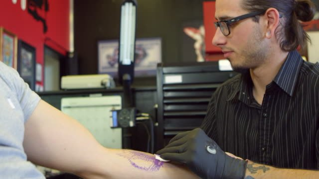 Close-Up-Of-Man-Having-Tattoo-In-Parlor-Shot-On-R3D