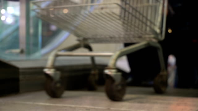 Concept-shopping-mall-Shopping-trolley-as-shopping-symbol-Bottom-view-in-blur