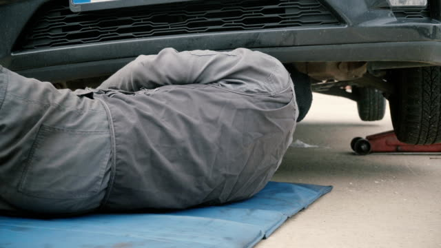 Mechanic-working-under-a-car