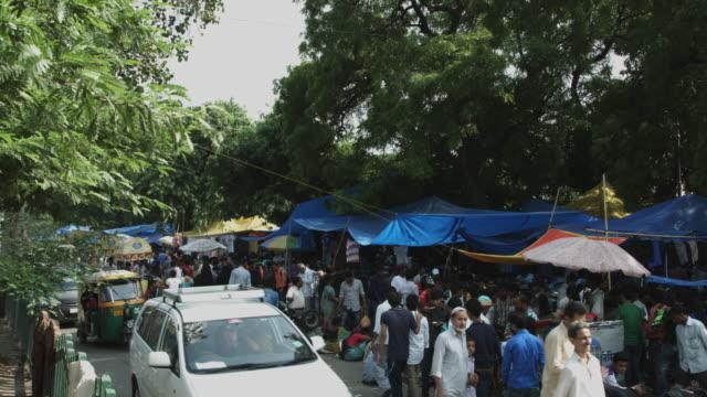 Cerrado-on-shot-de-personas-en-el-mercado-en-Birminghamam-Delhi-India
