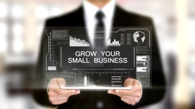 Wachsen-Sie-Ihre-Small-Business-Hologramm-futuristische-Interface-ergänzt-virtuelle
