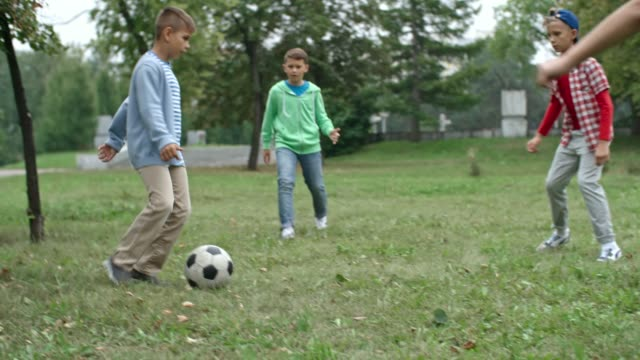 Children-Warming-Up-with-Football