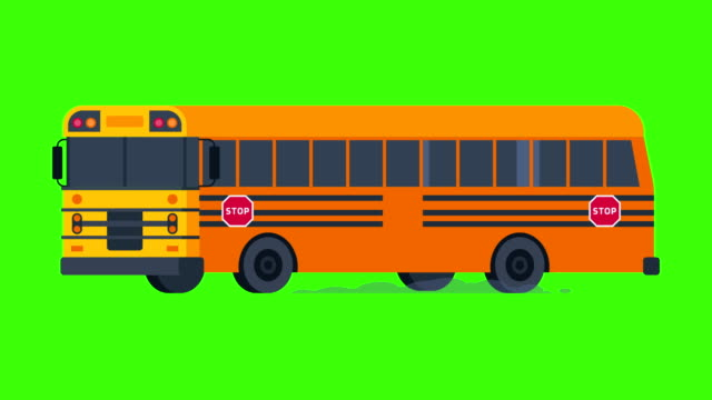 School-Bus-Rides-with-Flashing-Lights-On-Transparent-Background-