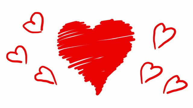 Hand-drawn-animation-red-hearts-in-scribble-style-Doodle-cartoon-loop-movie-for-Valentines-Day-