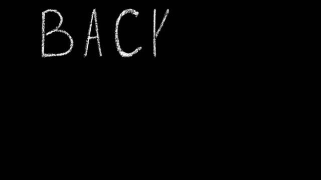 regreso-a-la-escuela-venta-manuscrita-Letras-de-tiza-blanca-aislado-en-la-animación-de-fondo-negro
