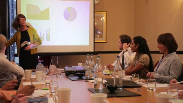 Businesswoman-Talking-Through-a-Presentation