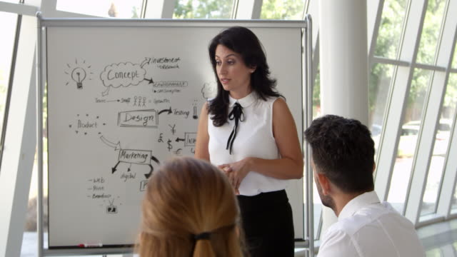 Businesswoman-Leads-Brainstorming-Session-Shot-On-R3D