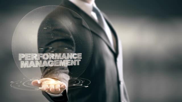 Performance-Management-with-bulb-hologram-businessman-concept