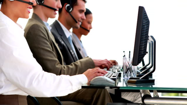 Business-people-working-in-call-center