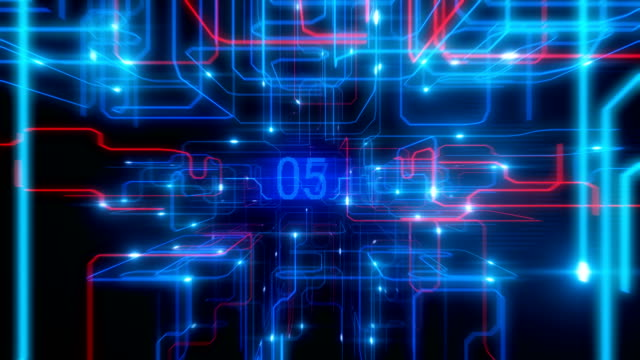 Beautiful-Flight-Inside-Processor-with-Running-Electrons-and-Digital-Codes-Bright-Flashes-and-Glowing-Numbers-Looped-3d-Animation-Frames-200-400-Digital-Technology-Concept-