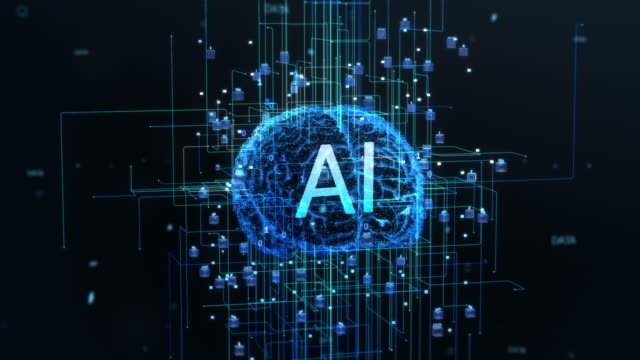 Concept-of-the-Digital-Brain-of-Artificial-Intelligence-Machine-with-Symmetrical-Streams-of-Information-and-Data-Going-Through-Electronic-Neurones-