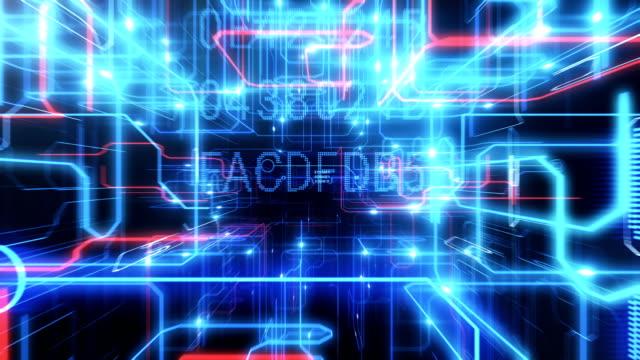 Schönen-Flug-innerhalb-der-CPU-Bewegenden-Elektronen-auf-Bahnen-und-digitalen-Daten-Abstrakten-3D-Animation-durch-Prozessor-Elemente-blinkt-Digital-Konzept-Letzten-Sie-200-Frames-geloopt-