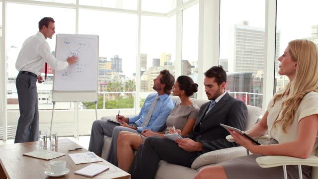 Business-team-listening-to-presentation