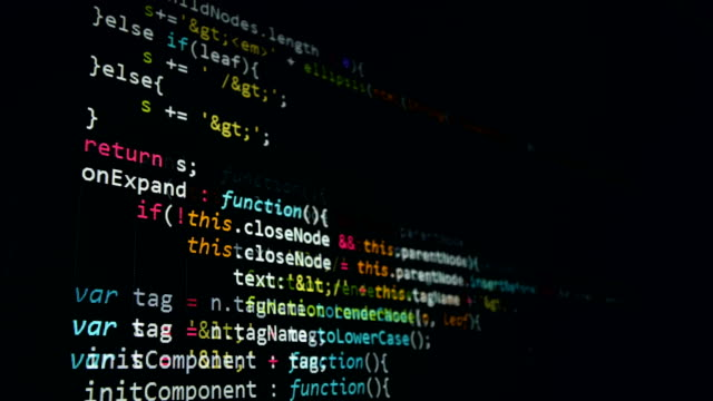 Hackers-code-running-in-a-virtual-space-Computer-attack-concept-