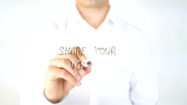 Share-Your-Voice-Man-Writing-on-Glass