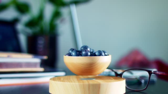 4K-Levitation-Device-with-Blueberry-in-Corporate-Office