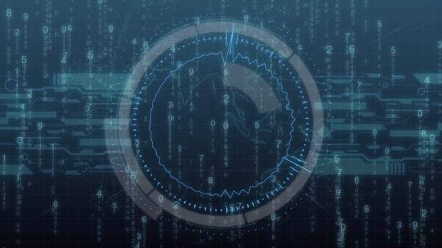 Futuristic-digital-HUD-Technology-user-interface-code-running