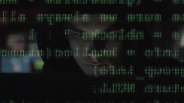 Hacker-connecting-online-and-committing-cyber-crimes