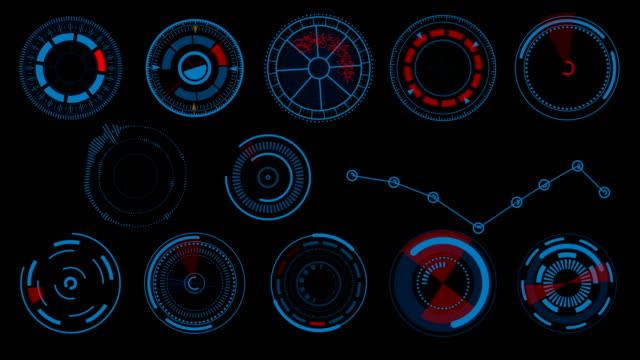 HUD-Elemente-UI-Elemente-HUD-Konzept-Radiale-futuristische-Interface-Design-Elemente