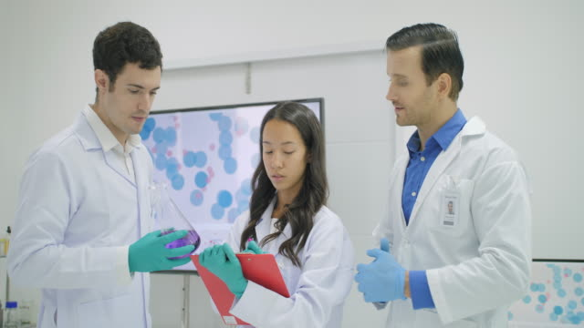 Team-of-medical-research-scientists-discussion-their-findings-in-the-modern-laboratory