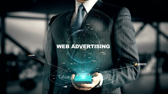 Businessman-with-Web-Advertising-hologram-concept