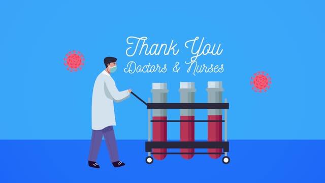 Dankeschön-Ärzte-und-Krankenschwestern-Schriftzug-mit-Arzt-und-Fläschchen