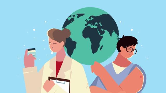 doctora-con-vial-vacunal-y-paciente-en-planeta-tierra