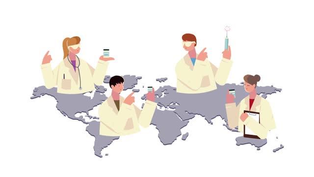médicos-personal-con-vacuna-en-el-planeta-tierra