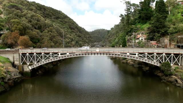 morning-panning-shot-of-the-cataract-gorge-bridge-in-the-city-of-launceston